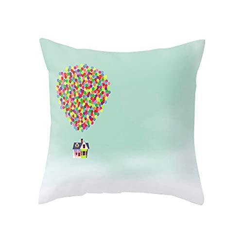 MissW Funda De Almohada Decorativa Fresca De Colores Geométricos Sin Núcleo, Funda De Almohada Lavable con Cremallera, Adecuada para La Oficina del Sofá del Coche