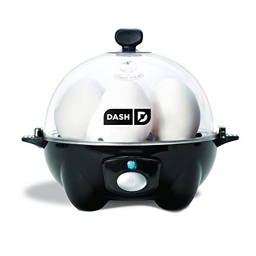 DASH black Rapid 6 Capacity Electric Cooker for Hard Boiled, Poached, Scrambled Eggs, or Omelets with Auto Shut Off Feature, One Size