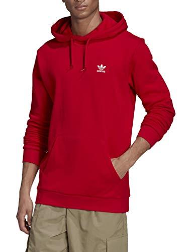 adidas Essential Hoody Sudadera con Capucha para Hombre Rojo GN3389