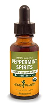 Herb Pharm Certified Organic Peppermint Spirits Liquid Extract Digestive Support Blendwith Essential Oil- 1 Ounce