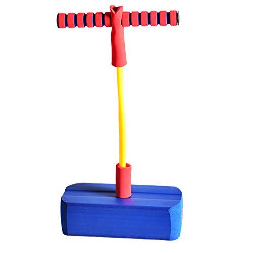 T TOOYFUL Pogo-Stick Hüpfstab Springstock Sprungstab Outdoor Springen Spielzeug für Kinder - Blau