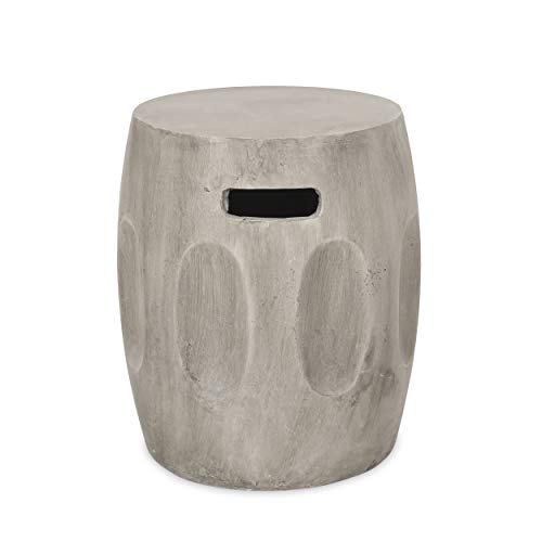 Christopher Knight Home 312762 Ronald Outdoor Contemporary Lightweight Accent Side Table, Concrete Finish