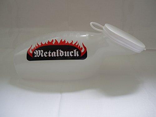 Feminaduck die Farbige Urinflasche in Milchig-Weiß speziell für Frauen! Mit exklusiver Metalduck-Beschriftung!