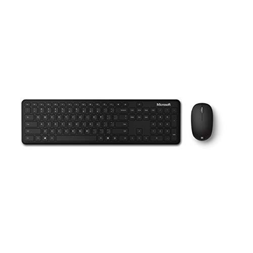 Microsoft Bluetooth Desktop, Ensemble Clavier et Souris sans Fil Bluetooth, Compatible Windows, macOS, Chrome OS, Clavier Français AZERTY, Noir