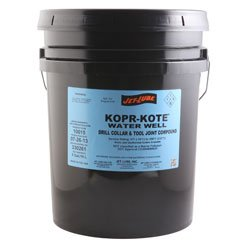 Kopr Kote Water Well - 5 Gallon Pail - Tool Joint and Copper/Graphite Drill Collar Compound for Well Drilling Applications