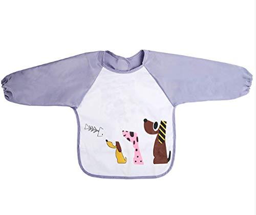 WSWJQY wasserdichte Langarm Baby Lätzchen Baby Essen Kleid Lätzchen Wasserdicht und schmutzig Junge Mädchen Kinder Zeichnung Schürze Reis Kleidung Anti-Dressing für Kleinkinder Kind Kleinkind