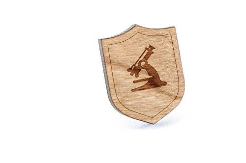 Microscope Lapel Pin, Wooden Pin