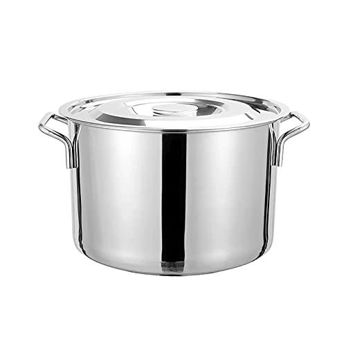 GAXQFEI Stockpot, Olla de Valores, Eta de Acero Inoxidable Seguro con Tapa, Cater Soup Soup Hirvedor de Sopa para Alenado Y Calentado,35 * 22Cm (20L)