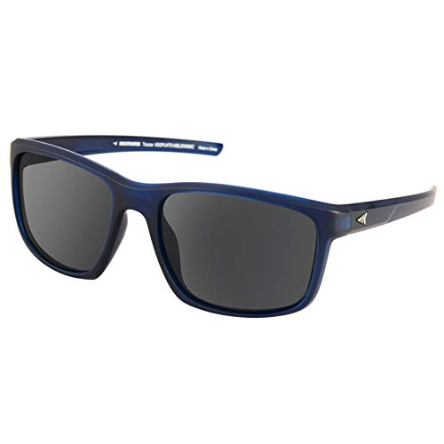 KastKing Toccoa Polarized Sport Sunglasses for Men and Women,Matte Midnight Blue Crystal Frame,Smoke Base Silver Mirror