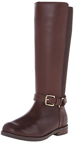 Polo Ralph Lauren Kids Sabeen Fashion Riding Boot (Little Kid/Big Kid), Brown Leather, 1 M US Little Kid