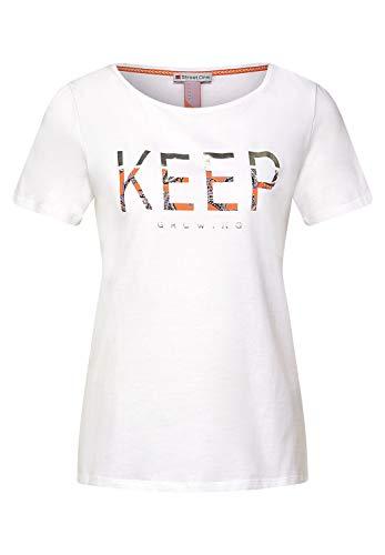 Street One Damen 316070 T-Shirt, White, 40