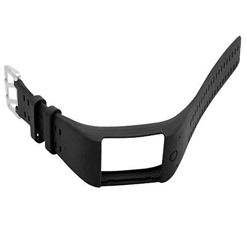 vhbw Silikon Ersatz Armband schwarz 14,5-23,0 cm passend passend für Polar M600 Smartwatch Fitness-Tracker