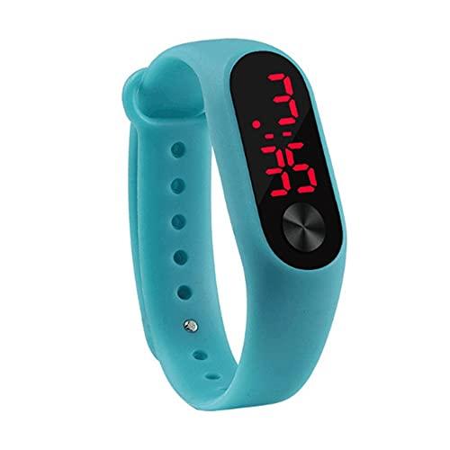 bansd Reloj de Pulsera Deportivo Informal para Hombre, Reloj de Pulsera de Silicona cómodo Digital electrónico LED Duradero
