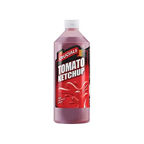 Crucials Tomato Ketchup 500ml, denso, ricco, dolce e fruttato, Confezione da 2 | Non dimenticare: develey salsa olandese yogurt barbecue senape al miele bbq avocado ketchup finto