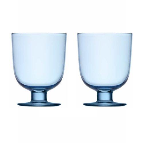 Iittala 1008688 glazenset Lempi 2-delig 0,34 L, lichtblauw