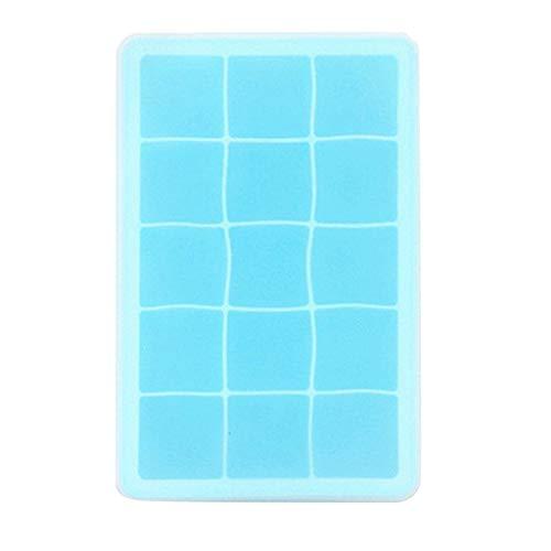FFLJT 15 rejilla de calidad de alimento silicona hielo cubo molde cuadrado forma de hielo bandeja de hielo fruta hielo cubo cubo heladería fabricante de cocina barra de cocina beber accesorios