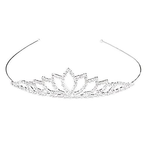 LAANCOO Cristal de la Corona de los Aros del Pelo de la...