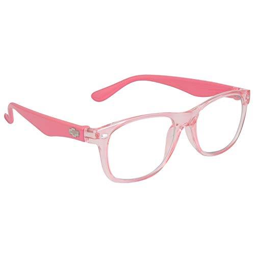 Optify® Blue Light Blocking Glasses for Kid UV Protection Computer Eyewear Zero Power Lens Age 5-12 Years(Pink)