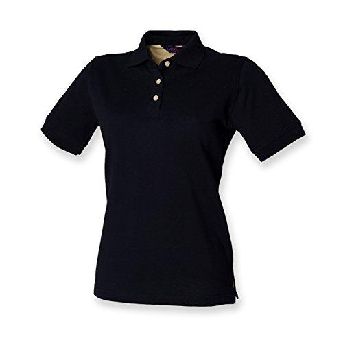 Henbury – Polo piqué pour femme, manches courtes - Bleu - XL