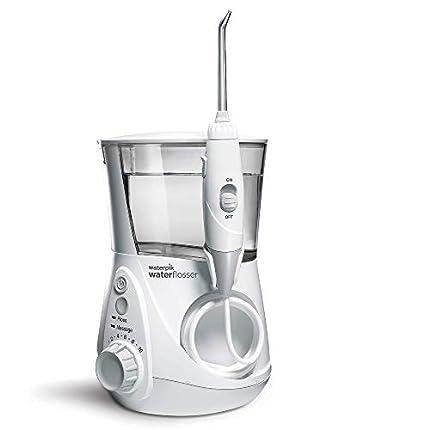 Waterpik WP-660EU Aquarius - Irrigador dental, 100-240V, depósito de agua de 650 ml, Blanco