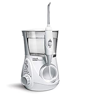 Waterpik WP-660EU Aquarius – Irrigador dental, 100-240V, depósito de agua de 650 ml, Blanco