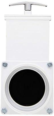 "Valterra 6301M PVC Gate Valve, Black, 3"" Slip w/Metal Handle by Valterra Products"