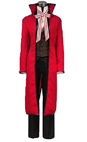 Yi Fang Anime Black Butler Grell Sutcliff Gothic Uniform Cosplay Costume Halloween Carnival Role Cos Suit (Woman-S, A)