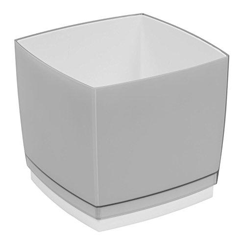 Pot de fleur, cache pot Designo Cube, hauteur 18,5 cm, en gris fonce