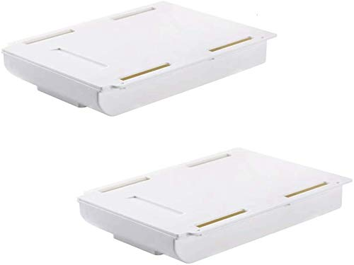 Versteckte Schreibtischorganizer,Schublade Federmäppchen Unterbau Schreibtisch Schublade,Schubladen-Organizer selbstklebend ,Versteckte selbstklebende Paste Stil Büro Schreibwaren