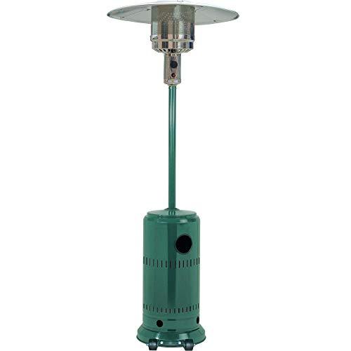 PiuShopping | Fungo Riscaldante per Esterno a Gas da Giardino, Stufa Elettrica Infrarossi con Ruote, 13 KW, 25 mq (Verde)