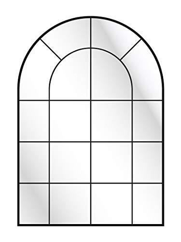 CustomGlass Miroir mural avec décoration personnalisée Modèle industriel moyen point