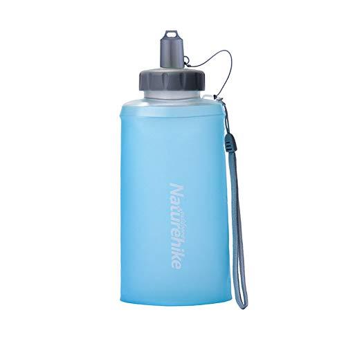 LIXIAOYUN Zusammenklappbar Wasserflasche, Leakproof Folding Soft-Reise-Becher, Sport Und Outdoor - BPA-Frei, 750 Ml,Blau