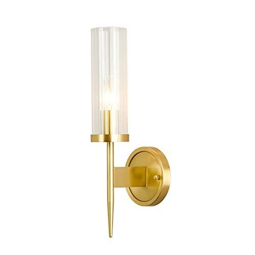 ZouYongKang Moderna Luz de Pared Creativa, Sombra de Vidrio Metal Acabado de latón Soporte Art Deco Iluminación Luminaria, Accesorio de iluminación de moda contemporánea E27 Bases Bases Sconce Lámpara