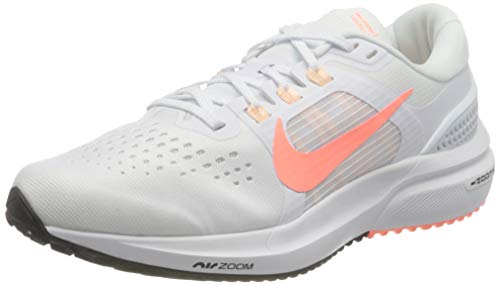 Nike Wmns Air Zoom Vomero 15, Scarpe da Corsa Donna, White/Crimson Pulse-Crimson Tint-Black, 37.5 EU