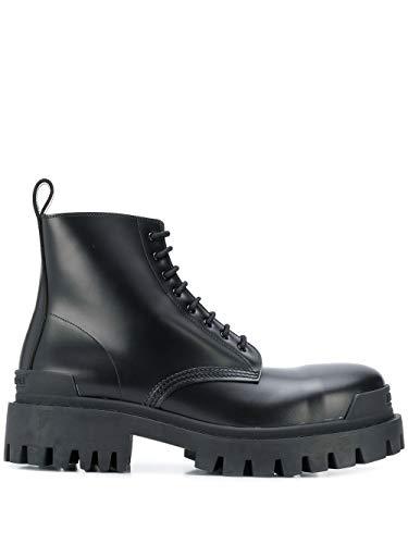 Balenciaga Luxury Fashion Herren 589338WA9601000 Schwarz Leder Stiefeletten | Jahreszeit Permanent