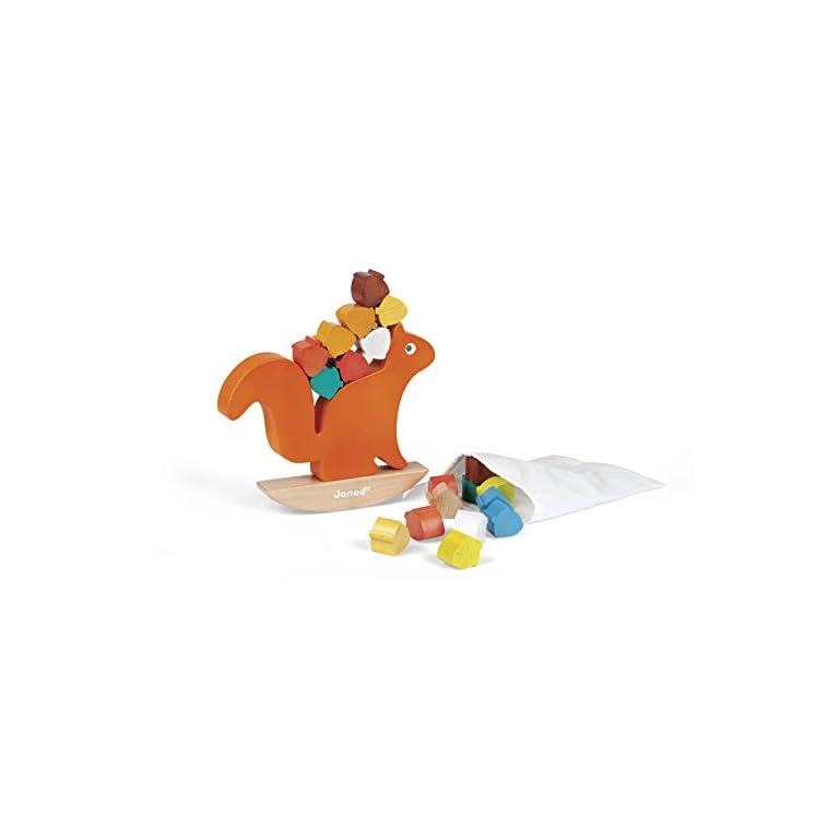 Janod - Nutty Balance, juguete para apilar con balancín (J08126)