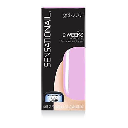 Sensationail Gel Nail Polish, Lovely Lychee, 7.39ml, Pastel Pink/Shimmery Pink, At-Home Gel Polish