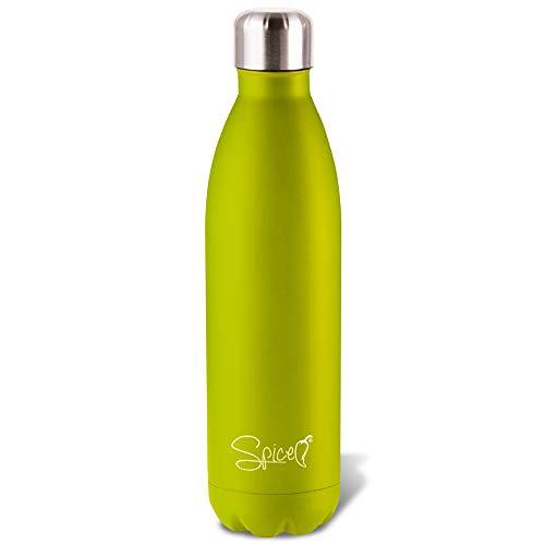 SPICE Bottiglia Borraccia Termica in Acciaio Inox (500 ml Verde Acido)