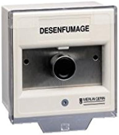 Merlin Gerin 57305 – PYROS – Pulsador Désenfumage DMF 200 – Blanco