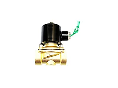 3/4 inch 24V AC Brass Electric Solenoid Valve NPT Gas Water Air Normally Closed by USonline911