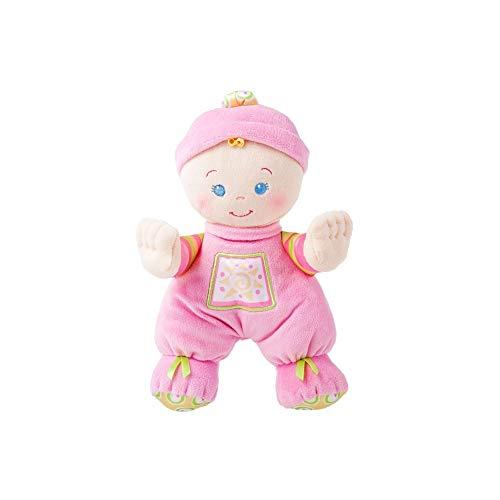 Fisher-Price N0663 - Meine Erste Puppe weiche Babypuppe ab Geburt, maschinenwaschbar mit Rasselgeräuschen
