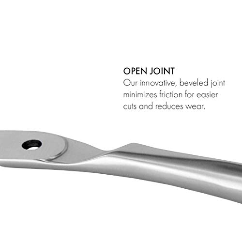 GERMANIKURE Standard Professional Cuticle Trimmer - 1/2 Half Jaw Nipper - Ethically Made in Germany - FINOX Stainless Steel Sharp Cuticle Remover in Leather Case – Manicure Tool, r175, 5mm