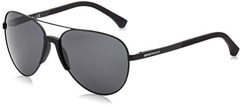 Emporio Armani Herren 0EA2059 320387 61 Sonnenbrille, Schwarz (Matte Black/Grey)