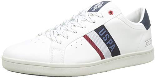 U.S. Polo Assn. Icon, Sneaker Uomo, Multicolore (Bianco/Blu Scuro 011), 42 EU