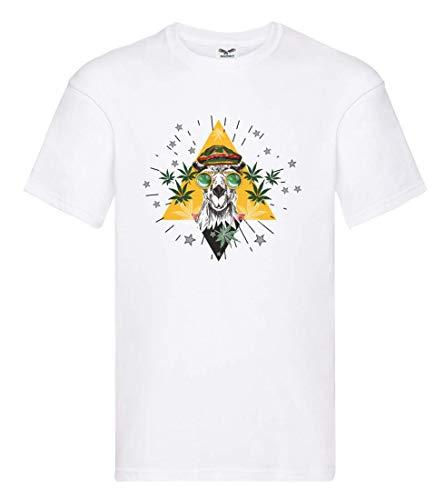 Camiseta de manga corta con diseño de camel Marihuana y gafas Jamaica, para hombre y mujer
