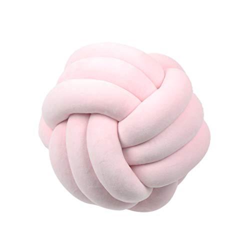 Dabixx Cojín suave con forma de bola de nudo para cama, almohada de peluche, decoración del hogar, 2