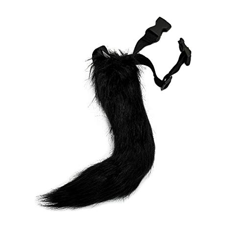 BANLAN Faux Fur Fox Costume Cat Tail Children/Adult Cosplay Halloween Christmas Party Costume One Size Black