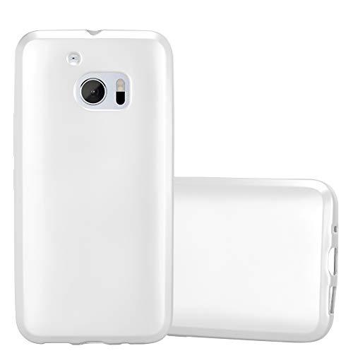 Cadorabo Hülle für HTC 10 (One M10) in METALLIC Silber - Handyhülle aus flexiblem TPU Silikon - Silikonhülle Schutzhülle Ultra Slim Soft Back Cover Hülle Bumper