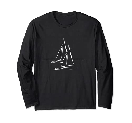 Velero con diseño de barco en el agua, idea de regalo Manga Larga
