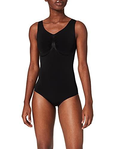 belly cloud Damen Badeanzug, belly cloud Model-up Badeanzug mit V-Ausschnitt, Schwarz (schwarz), M
